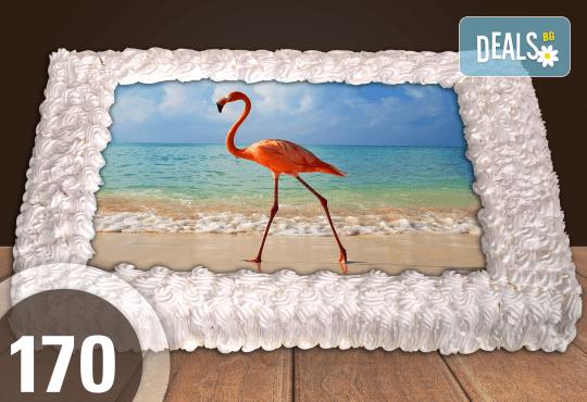 Експресна торта от днес за днес! Голяма детска торта 20, 25 или 30 парчета със снимка на любим герой от Сладкарница Джорджо Джани - Снимка 77