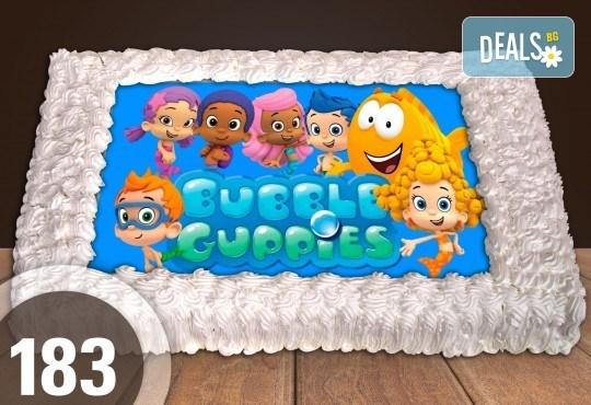 Експресна торта от днес за днес! Голяма детска торта 20, 25 или 30 парчета със снимка на любим герой от Сладкарница Джорджо Джани - Снимка 88