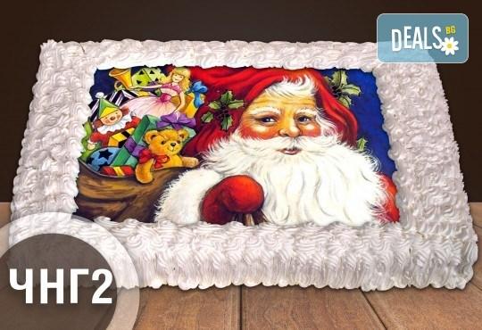 За Коледа и Нова година! Голяма торта 20, 25 или 30 парчета със снимка от Сладкарница Джорджо Джани - Снимка 3
