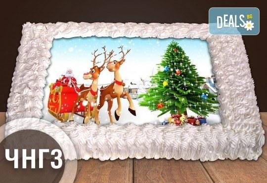За Коледа и Нова година! Голяма торта 20, 25 или 30 парчета със снимка от Сладкарница Джорджо Джани - Снимка 1
