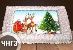 За Коледа и Нова година! Голяма торта 20, 25 или 30 парчета със снимка от Сладкарница Джорджо Джани - Снимка