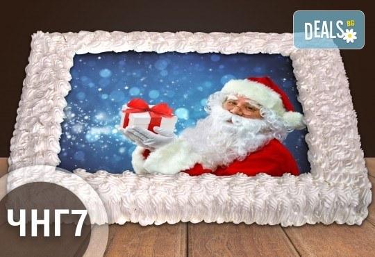 За Коледа и Нова година! Голяма торта 20, 25 или 30 парчета със снимка от Сладкарница Джорджо Джани - Снимка 7