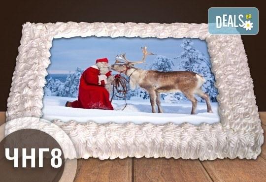 За Коледа и Нова година! Голяма торта 20, 25 или 30 парчета със снимка от Сладкарница Джорджо Джани - Снимка 8
