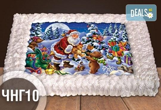 За Коледа и Нова година! Голяма торта 20, 25 или 30 парчета със снимка от Сладкарница Джорджо Джани - Снимка 2