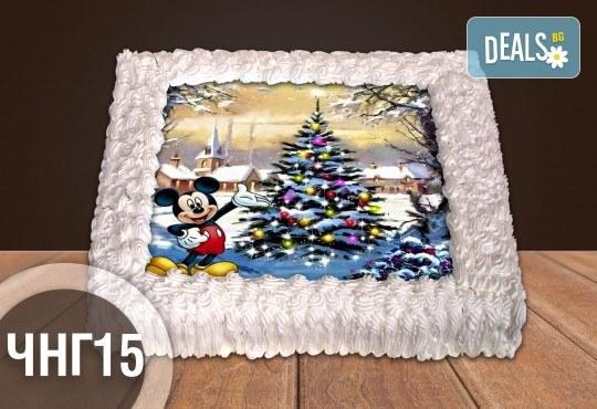 За Коледа и Нова година! Голяма торта 20, 25 или 30 парчета със снимка от Сладкарница Джорджо Джани - Снимка 12
