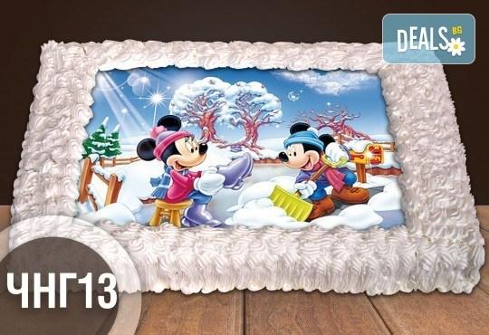 За Коледа и Нова година! Голяма торта 20, 25 или 30 парчета със снимка от Сладкарница Джорджо Джани - Снимка 14