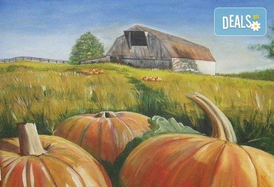 Незабравимо 3-часово творческо преживяване! Студио за рисуване и вино Art and Wine. На 22 октомври от 18:30ч - на тема Есенно настроение - Снимка 1