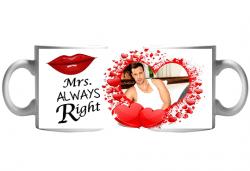 Аморе! Чаша със снимка на Вашата половинка + послание и пожелание от Сувенири Царево - Снимка