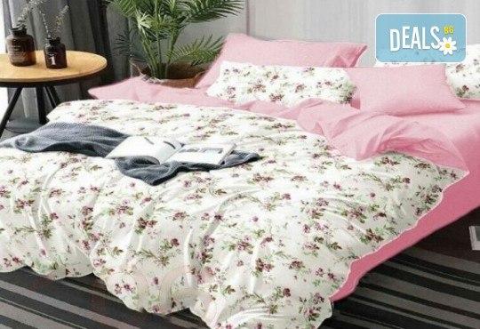 Комплект pомантично спално бельо от 100% памук от Spalnoto Belio