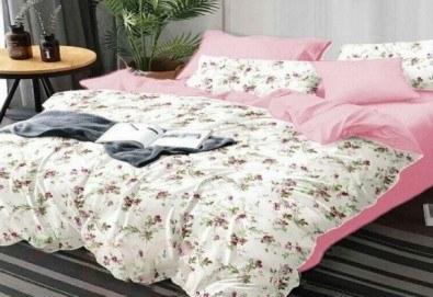 Комплект pомантично спално бельо от 100% памук от Spalnoto Belio - Снимка
