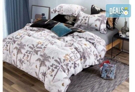 Комплект спално бельо Палми от 100% памук от Spalnoto Belio - Снимка 1