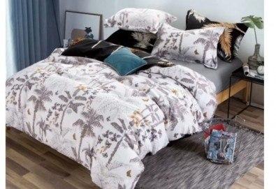 Комплект спално бельо Палми от 100% памук от Spalnoto Belio - Снимка