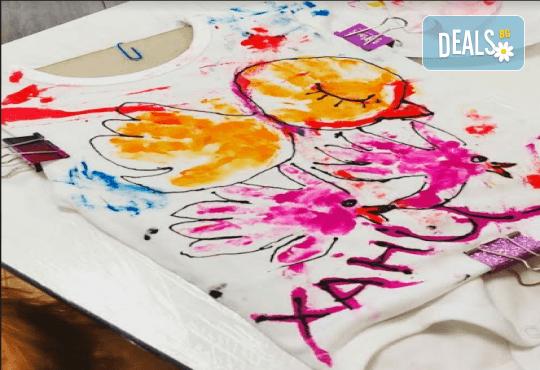 Рисуване върху тениска/боди с ръце (за възраст от 10 месеца до 8 г.), до 8 деца в група в Детски център ДЕТЕгледане - Снимка 6