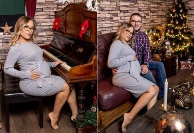 60-минутна фотосесия за бременни в студио с включени аксесоари, дрехи и ефекти + обработка на всички заснети кадри + коледни декори, от Chapkanov photography - Снимка