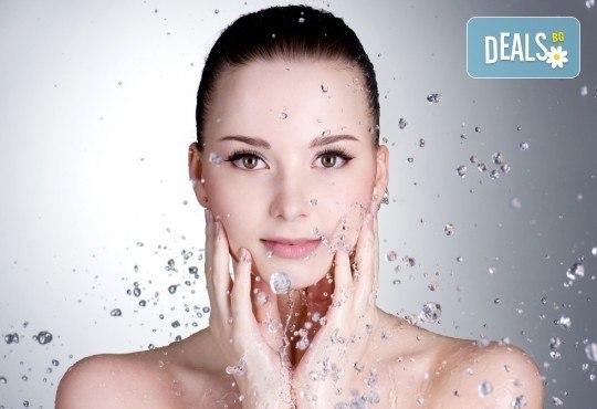 1 или 5 процедури кислородна мезотерапия и почистване на лице в