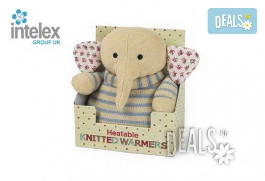 Нагряващ се Плетен Слон Knitted Warmer Elephant от Intelex - Снимка 3