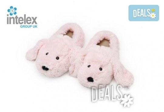 Плюшени нагряващи се Чехли Зайче за деца Cozy Head Kids Bunny от Intelex - Снимка 1