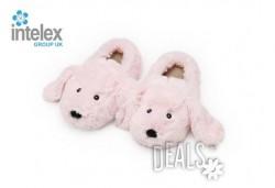 Плюшени нагряващи се Чехли Зайче за деца Cozy Head Kids Bunny от Intelex - Снимка