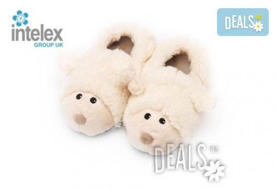 Плюшени нагряващи се Чехли Овца за деца Cozy Head Kids Sheep от Intelex - Снимка 1