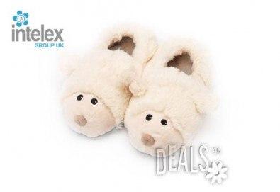 Плюшени нагряващи се Чехли Овца за деца Cozy Head Kids Sheep от Intelex - Снимка