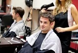 Мъжко подстригване, измиване, сешоар и фиксатор, студио Вая