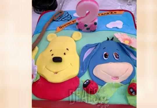 За най-малките! Детска торта с Мечо Пух, Смърфовете, Спондж Боб и други герои от Сладкарница Джорджо Джани - Снимка 42