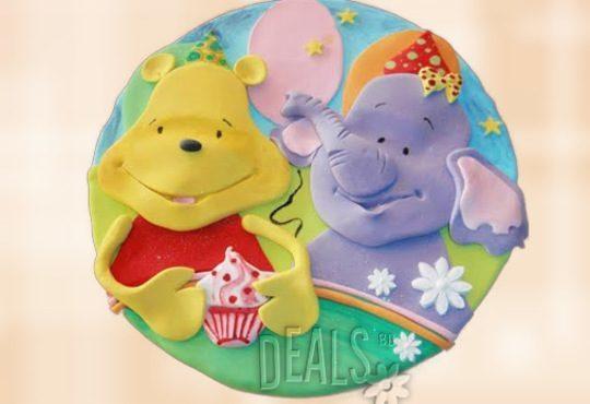 За най-малките! Детска торта с Мечо Пух, Смърфовете, Спондж Боб и други герои от Сладкарница Джорджо Джани - Снимка 43