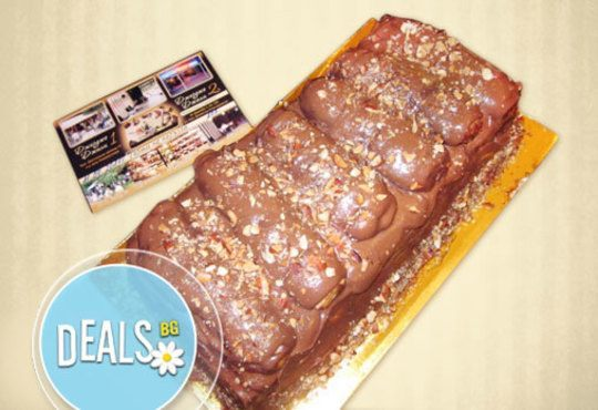 Изкушение за влюбени! ДВА килограма италианско еклерово семифредо с бадеми, маскарпоне и шоколад от Джорджо Джани - Снимка 1