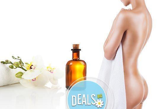 Кожа без целулит! 30мин антицелулитен масаж със силно загряващи масла на зони по избор в Център за масажи Шоколад - Снимка 1