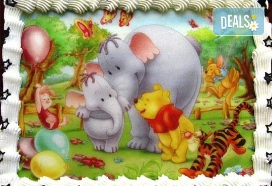 Детски торти МЕЧТА! Торти с фотодекорация - Ну погоди, Мечо Пух, Макуин или с Ваша снимка от Сладкарница Орхидея - Снимка 6
