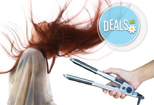 Освежаваща терапия за коса по избор, инфраред преса, оформяне на прическа със сешоар и подарък лакиране в студио Мелинда - Снимка 4