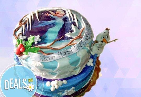 Красиви детски торти за момичета с принцеси и приказни феи + ръчно моделирана декорация от Сладкарница Джорджо Джани - Снимка 2