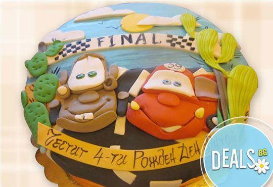 Специално за момчета! Детски торти с коли и герои от филмчета с ръчно моделирана декорация от Сладкарница Джорджо Джани - Снимка 14