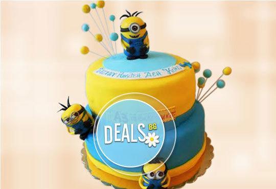 Специално за момчета! Детски торти с коли и герои от филмчета с ръчно моделирана декорация от Сладкарница Джорджо Джани - Снимка 1
