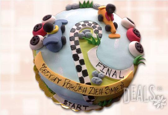 Специално за момчета! Детски торти с коли и герои от филмчета с ръчно моделирана декорация от Сладкарница Джорджо Джани - Снимка 8