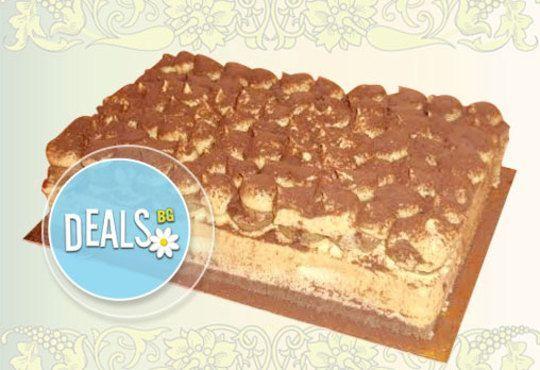 Опитайте най-новият сладкиш на Джорджо Джани! Тирамису - маскарпоне, бишкоти, кафе, ликьор в 12 парчета - Снимка 1