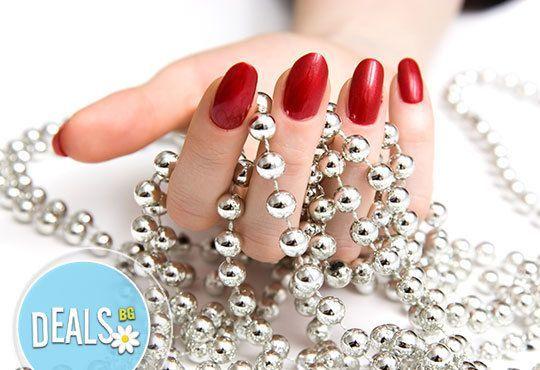 Ново! Бъдете нестандартни, изберете маникюр с Shеllac и златна или сребърна отливка на 2 пръста, салон Галакс, Плевен - Снимка 2