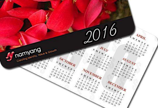 Ексклузивно от Офис 2! 100 броя джобни календарчета за 2016-та година, ламинат мат/ гланц, заоблени ъгли, с Ваша снимка - Снимка 3
