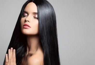 Красива от сутрин до вечер! Възстановяваща кератинова терапия за коса с преса, студио за красота Velesa - Снимка