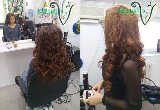 Укротете косата си с възстановяваща арганова терапия плюс сешоар от Салон за красота Studio V, Пловдив - Снимка 7