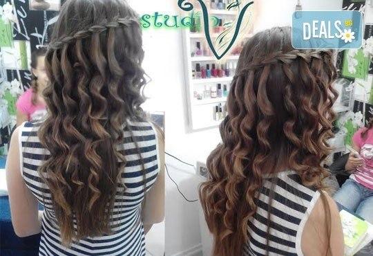 Върнете красотата на косата с кератинова терапия! Подарък изправяне с преса от Салон Studio V, Пловдив - Снимка 4