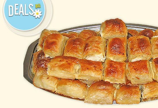 Един или два килограма домашна баница със сирене на хапки от Работилница за вкусотии РАВИ - Снимка 1