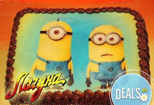 Запомнящ се рожден ден! Вкусна торта /избор от 29 картинки/ и пълнеж по избор от Виенски салон Лагуна! Предплати 1лв! - Снимка 3