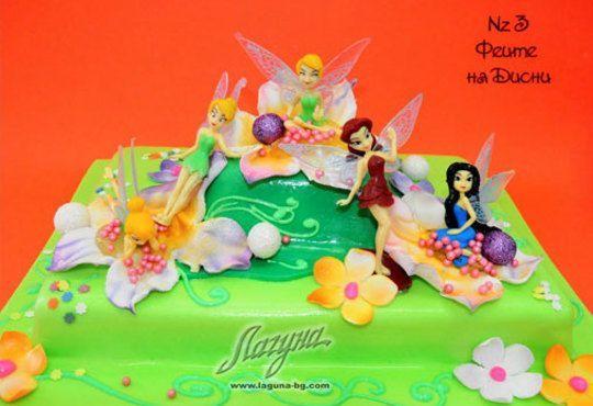 Детска торта с фигурка и пълнеж по избор + кутия, надпис и свещичка от Сладкарница Лагуна!Предплати сега! - Снимка 3