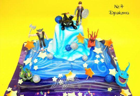 Детска торта с фигурка и пълнеж по избор + кутия, надпис и свещичка от Сладкарница Лагуна!Предплати сега! - Снимка 4