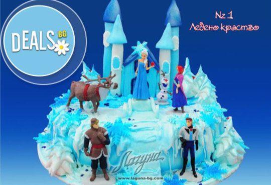 Детска торта с фигурка и пълнеж по избор + кутия, надпис и свещичка от Сладкарница Лагуна!Предплати сега! - Снимка 1