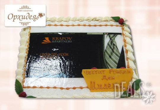 Торта за фирмени партита от Сладкарница Орхидея - 14-16 вкусни парчета на неустоима цена! - Снимка 5