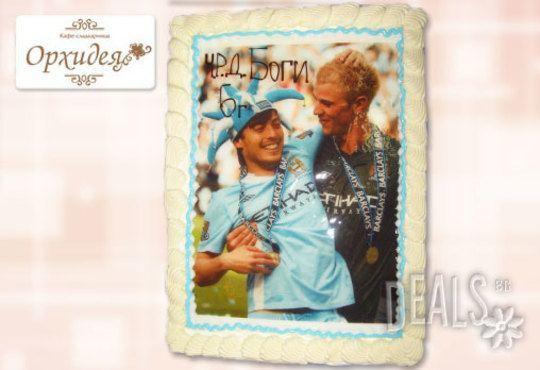 Торта за фирмени партита от Сладкарница Орхидея - 14-16 вкусни парчета на неустоима цена! - Снимка 9