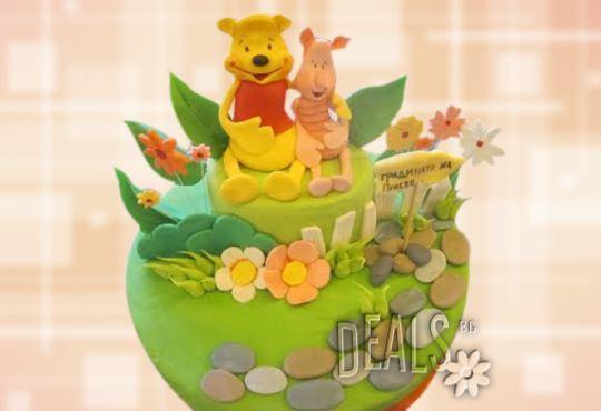 За най-малките! Детска торта с Мечо Пух, Смърфовете, Спондж Боб и други герои от Сладкарница Джорджо Джани - Снимка 14