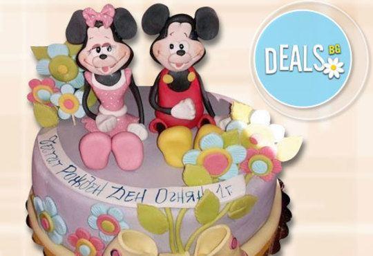 За най-малките! Детска торта с Мечо Пух, Смърфовете, Спондж Боб и други герои от Сладкарница Джорджо Джани - Снимка 26